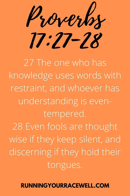 Proverbs 17:27-28